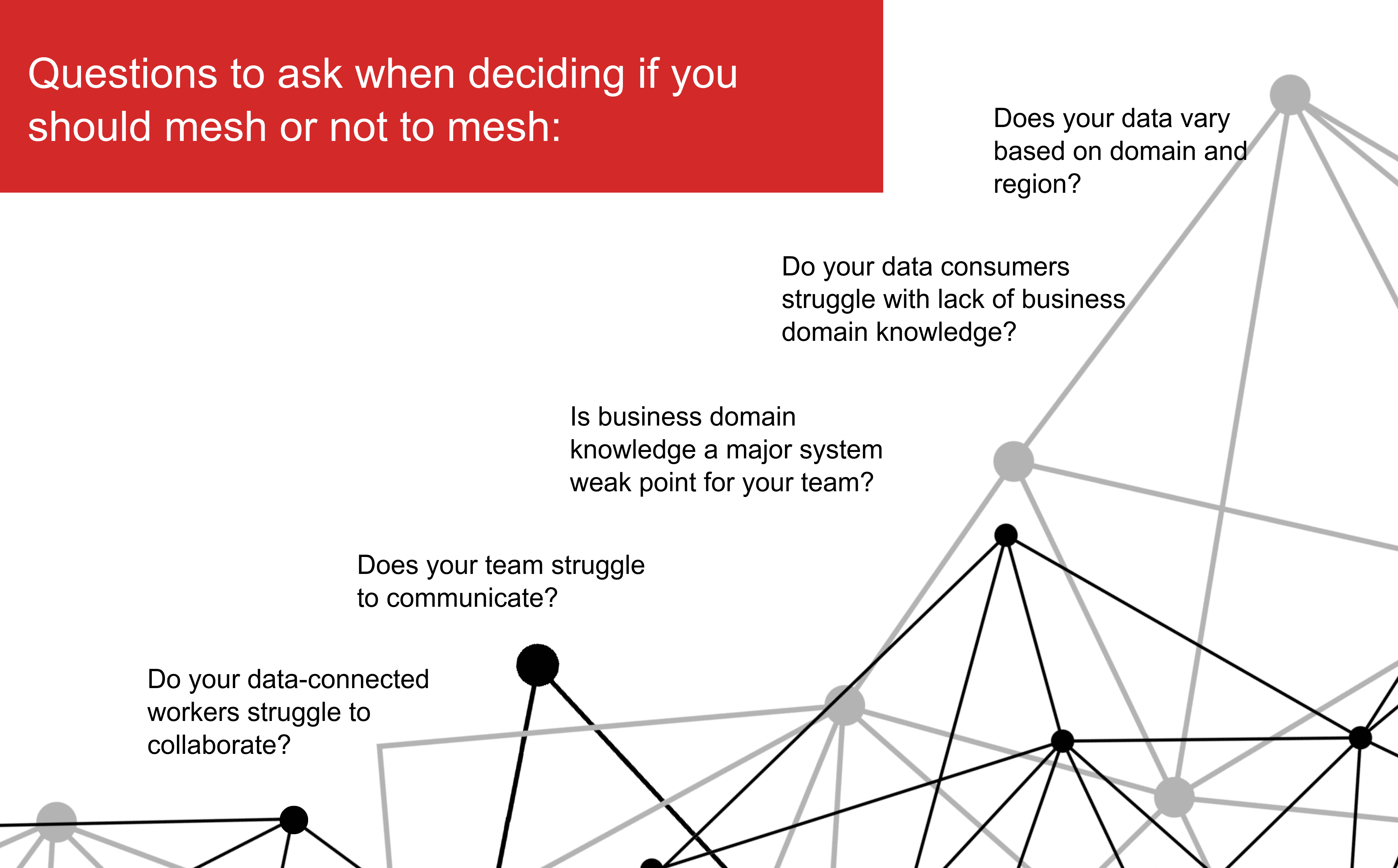 Questions to ask whrn deciding mesh or not to mesh